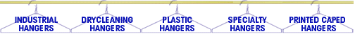 Industrial hangers, drycleaning hangers, plastic hangers and garment covers by United Wire Hanger Corp.
